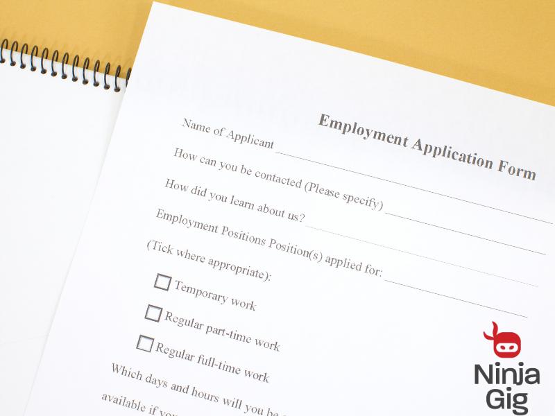 online job application rules